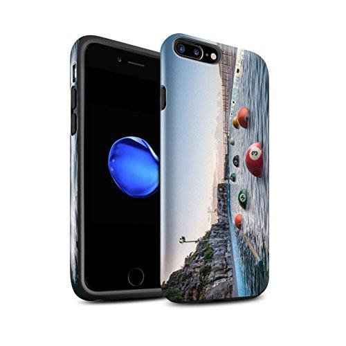 STUFF4 Glanz Harten Stoßfest Hülle / Case für Apple iPhone 7 Plus / Lust Tasse Tee Muster / Vorstellen Kollektion Pool