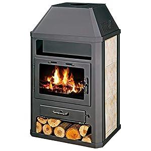Estufa de leña 14/18 kW calefacción de cerámica forro superior de la flauta Niche