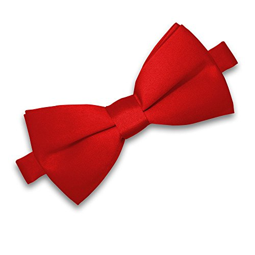 Soul-Cats® Kinder Fliege vorgebunden verstellbar Hochzeit Kommunion Jugendweihe , Farbe:rot