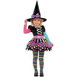 Christy's - Disfraz bruja de Halloween para niñas de 3-4 años (996994)