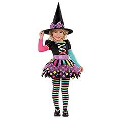 Idea Regalo - joker 996994/5-XS - Costume Strega, Nero