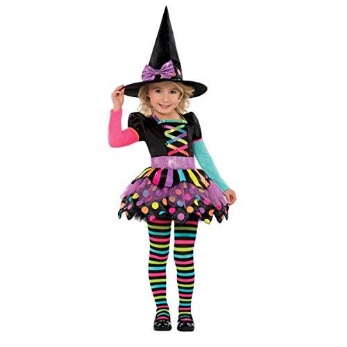 Christys London-Hexe Kostüm für Mädchen mit Design, Größe S (996995)