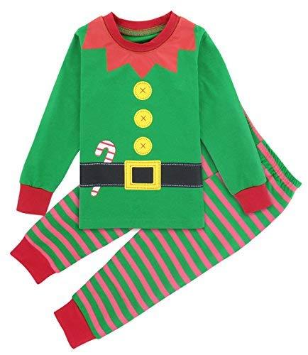 Mombebe Schlafanzug Elf Jungen Kinder Weihnachten Pyjama Set -
