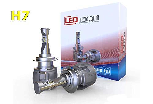 Lampadine X70 15600lm Nuova Tecnologia CREE LED XHP70 120 w 6000K Fari Abbaglianti o Anabbaglianti per Auto, Lampade LED Luci - 12V-24V Lampada Bianco H7 H4 H11 (H7)
