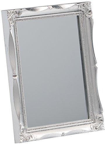 Walther SP017S Wohnraumspiegel mit Kunststoff-Leiste, 13 x 18 cm, silber