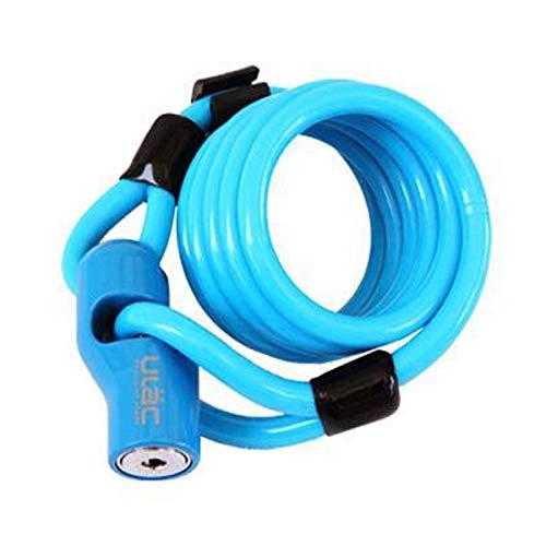 Yougou01 La serratura della bicicletta, la serratura del cavo della serratura antifurto, può bloccare le serrature multiple della bicicletta allo stesso tempo, blu, bianco, 1.2m Metallo di alta qualit