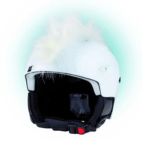 Crazy Ears Helm-Accessoires Irokese Mohawk Schwarz Weiß Pink Ski Snowboard, CrazyEars:Irokese Weiß