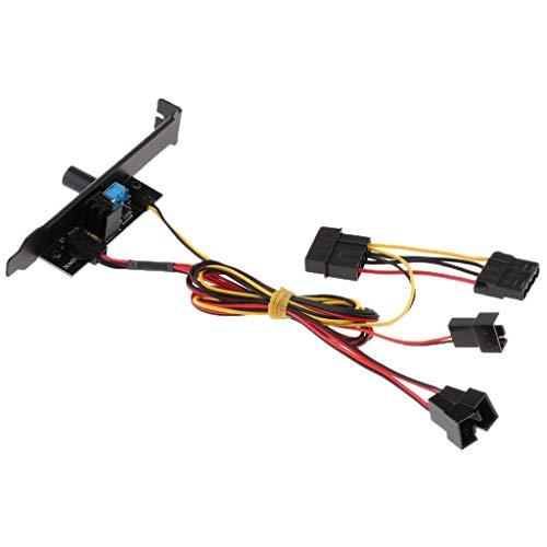 perfk 3 Kanäle PC Lüfter PCI-Blende Lüftersteuerung, Fan Controller Slot Lüfter