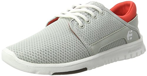 Etnies Women's Scout W's Skateboarding Shoe, Light Grey Black Orange, B(M) US