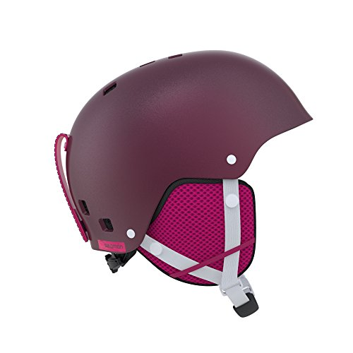 Salomon, casco da sci e snowboard per bambino freestyle/snowpark, involucro abs + interno in mousse eps, taglia m, circonferenza 55-58 cm, kiana, bordeaux, l39915900