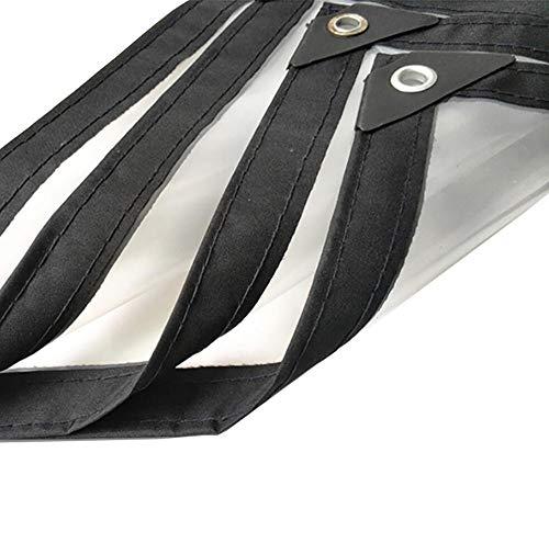 HCYTPL Plane Transparent Wasserdicht Hochleistungsfolie Regenfest Mit Metallloch Öse Kunststoff, (Farbe: Klar, Größe: 1x1M),3 * 4m (ösen 1 4)