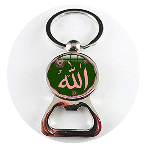 asd Arabische islamische Allah Bless Halskette Muslim Religiöse Schmuck Allah Zeichen Kunst Foto Glas Dome3 Flaschenöffner Literary Schmuck
