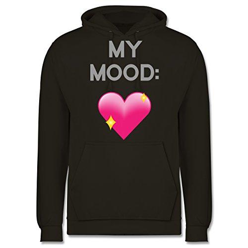 Statement Shirts - My Mood: Glitzerherz - Männer Premium Kapuzenpullover / Hoodie Olivgrün