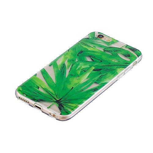 iPhone 6S Plus Hülle, Voguecase Silikon Schutzhülle / Case / Cover / Hülle / TPU Gel Skin für Apple iPhone 6 Plus/6S Plus 5.5(Rohr Katze 01) + Gratis Universal Eingabestift Grüne Blätter 07