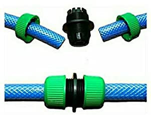 Eco Hometown 1/2-Inch Garden Water Hose Connector Pipe, Green, Plastic
