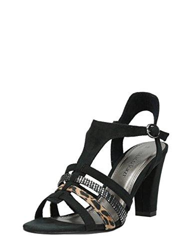 Marco Tozzi trendy Damen Sandalen 098 BLACK COMBI