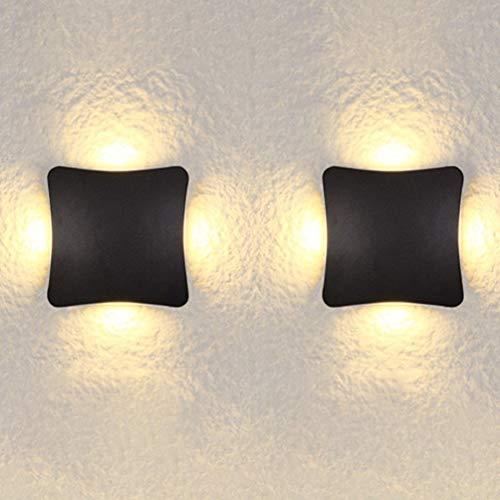 LED-Außenwandleuchten Wandleuchte IP54 Wasserdicht 6,3-Zoll-Platz Vierseitig Leuchtende Wandleuchte Leuchte Modern Minimalistisch Kreativ Balkon Hotel-Außenbereich Korridorbeleuchtung Zuhause Energies