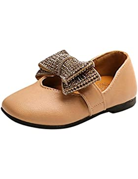 OYSOHE Kinder-Einzelne Schuhe, Baby-Mädchen-Kristall Bowknot-Feste Leder-Prinzessin Single Shoes