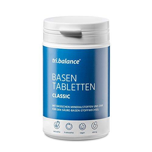 tri.balance Basentabletten Classic 225 Tabletten - 1er Pack I Zum Säure-Basen-Ausgleich I Mit Zink - basischen Mineralstoffen - vegan
