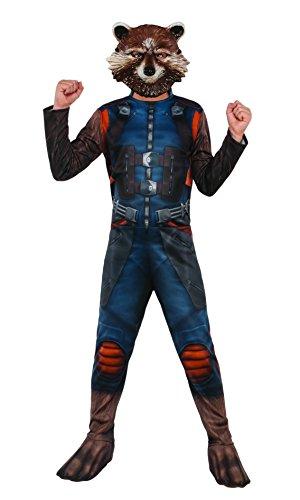 Kinder Kostüme Maske Raccoon Rocket (Marvel–i-630777l–Kostüm Klassische Rocket mit couvre-bottes/Maske–Größe)