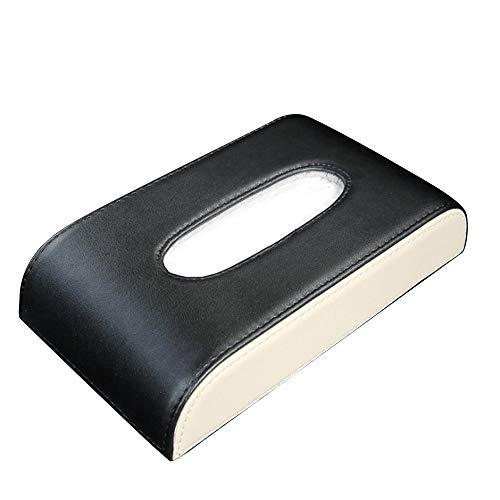 Auto Visier Tissue Holder Mount, hängende Leder Tissue Holder Fall for Auto, Multi-Use-Papier Handtuch Cover Fall Tissue Refill for Auto & LKW Dekoration Farbe: schwarz, braun, schwarz-beige, schwarz-