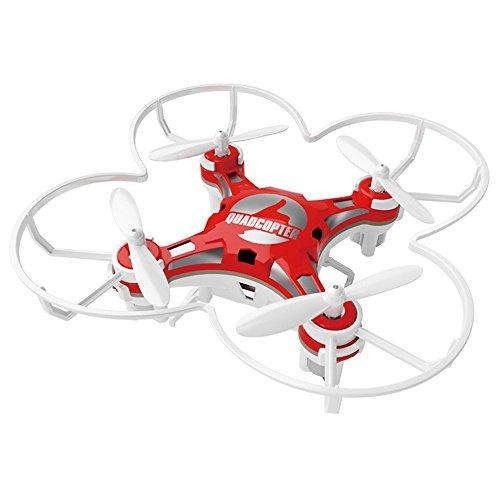 SBEGO 124 Mini RC Quadcopter Micro Drone bolsillo 2.4GHZ 6-Axis de control remoto con 3D Flip Headless Mode Una función de retorno clave Helicopter Toys para principiantes (rojo)