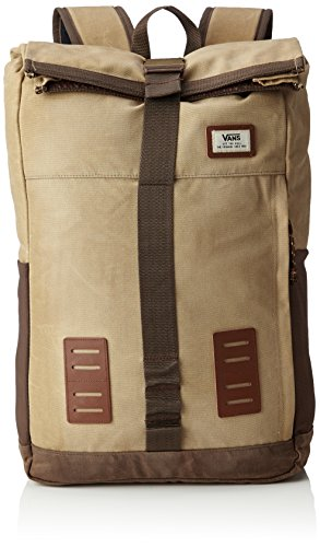 Vans Plot Roll Top Backpack Rucksack, 51 cm, 24 L, Khaki-Rain Drum
