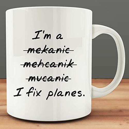 I Fix Planes Mug, Funny Mechanic Mug (I Planes Fix)