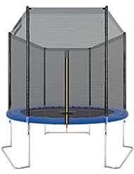 Ultrasport Trampolino da Giardino Jumper, Inclusa Rete di Sicurezza, Blu, 180 cm