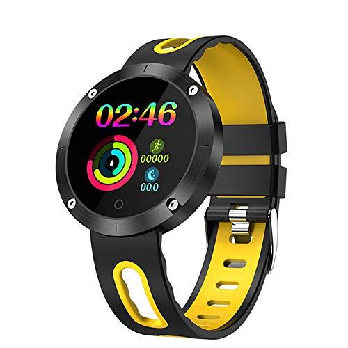 JCPGW Bluetooth-Armband 4,0 Blutdruck H & R Ip68 wasserdicht Aktivität Tracker Smart Band Geschenk für Freund,Yellow - Changeable Band Sehen Zu
