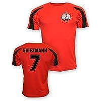 UKSoccershop Antoine Griezmann Atletico Madrid Sports Training Jersey (Red)