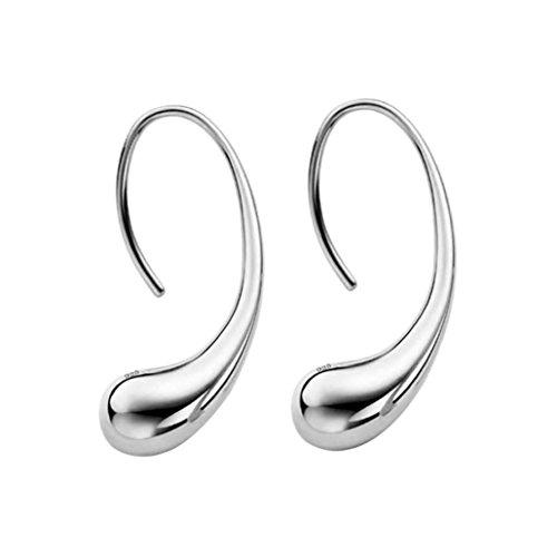 Minshao Mode Elegante Frauen 925 Sterling Silber Ohrstecker Ohrringe (SL) (Ohrringe Vergoldet-lange)