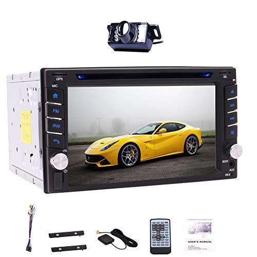 Kostenlose Backup-Kamera + 6.2 Zoll-Auto-Stereo GPS Navigation Doppel-DIN-kapazitiver Touch Screen Bluetooth AM / FM-RDS-Radio CD-DVD-Player-Unterstützung Lenkrad-Steuerung + Free GPS Map-Karte + Wi