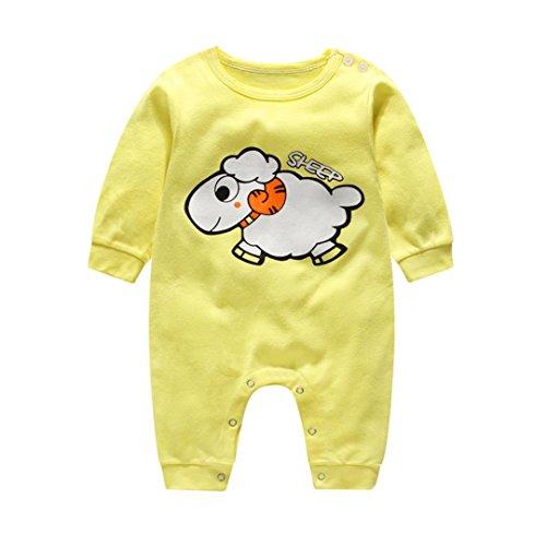 Neugeboren Klettern Kleider Säugling Niedlich Overall Baby Junge Mädchen Karikatur Lange Hülse Spielanzug_Hirolan (80cm, (Kostüme Schnelle Nette)