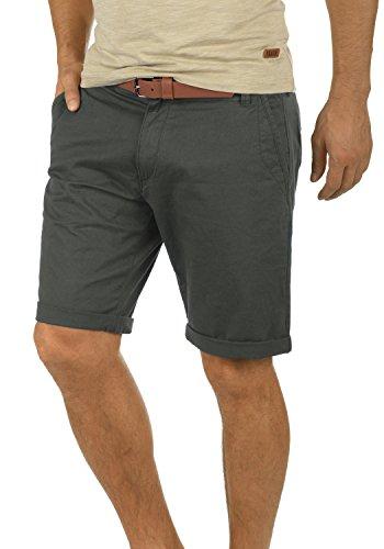 !Solid Montijo Chino Shorts Bermuda Kurze Hose Mit Gürtel Aus Stretch-Material Regular Fit, Größe:XL, Farbe:Dark Grey (2890) - China Männer