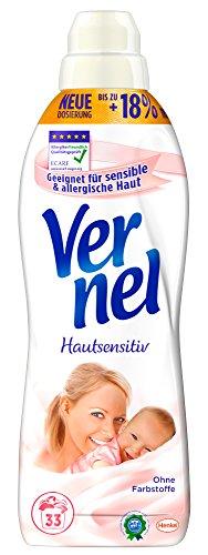 Vernel Sensitiv Aloe Vera & Wasserlilie, Weichspüler, 6er Pack (6 x 2 l)