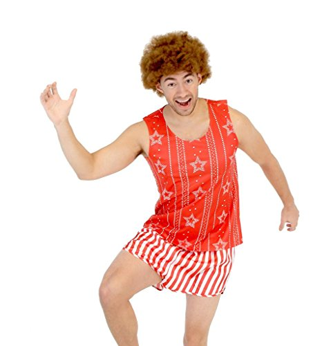 Richard Simmons Aerobics Kostüm Set with Afro Perücke (Small/Medium)