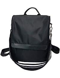 8cba94fd50c26 QHorse Umhänge Rucksäcke Damen Daypacks Nylon Waterproof Schultasche Lässig  Rucksack Einfarbig…