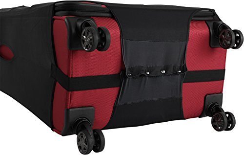 TITAN Luggage Cover UNIVERSAL - aus elastischem Spandex Polyester für 4-Rad Trolleys L, 77 cm, Black - 4
