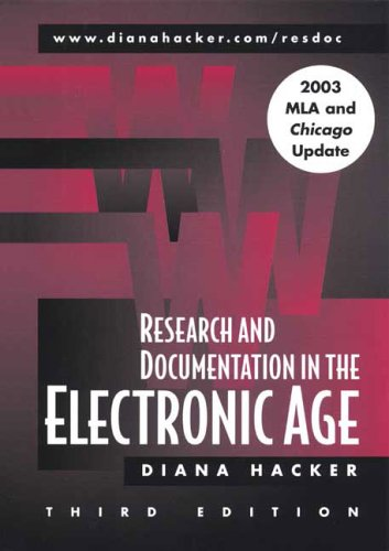 Research And Documentation in the Electronic Age With 2003 Mla And Chicago Update par Diana Hacker
