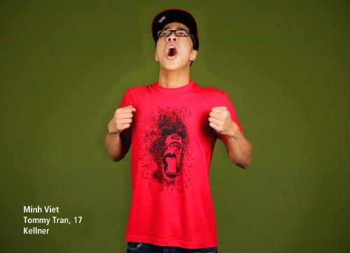 Wild Nature - Herren T-Shirt von Kater Likoli Red