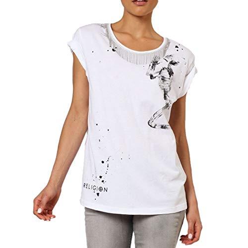 Religion Damen T-Shirt Vivacious Tee 59EVVT41 White Weiß, S