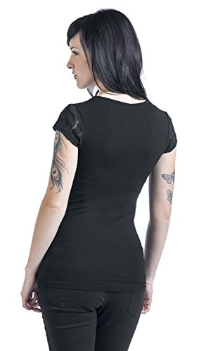 Black Premium by EMP Lace V-Neck Girl-Shirt schwarz Schwarz