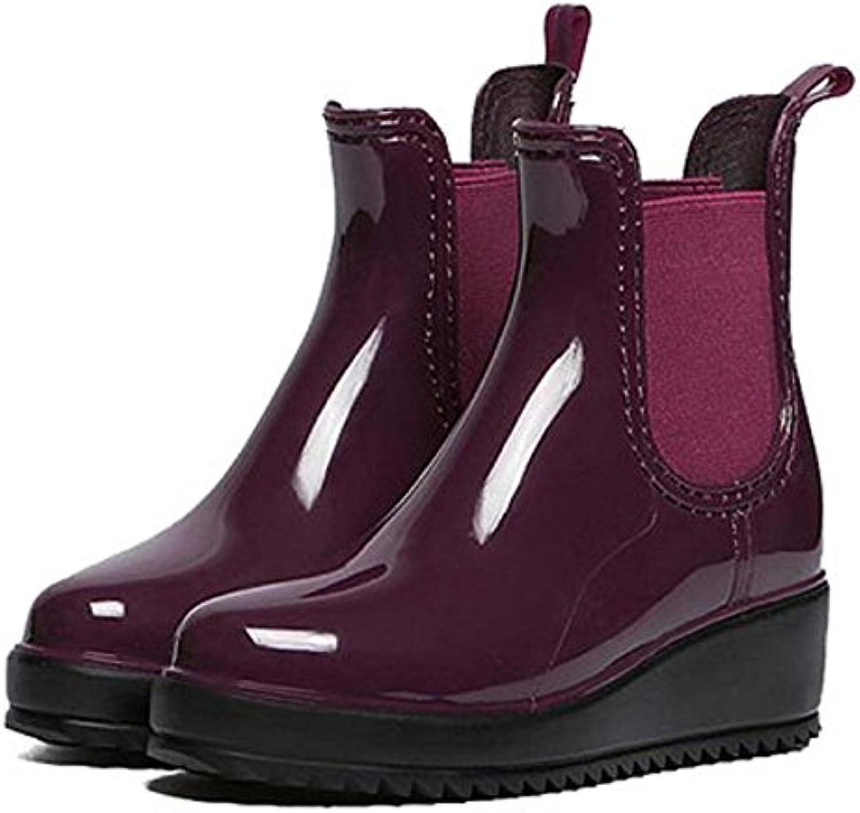 Alger Otoño e invierno Moda Señora Antideslizante Resistente al agua Botas de lluvia, 36, purple  -