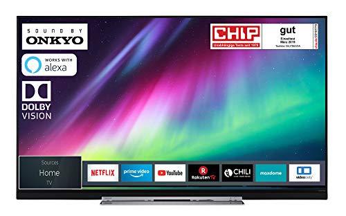 Toshiba 55U7863DA 140 cm (55 Zoll) Fernseher (4K Ultra HD, HDR Dolby Vision, Triple Tuner, Smart TV, Sound von Onkyo, Works with Alexa)