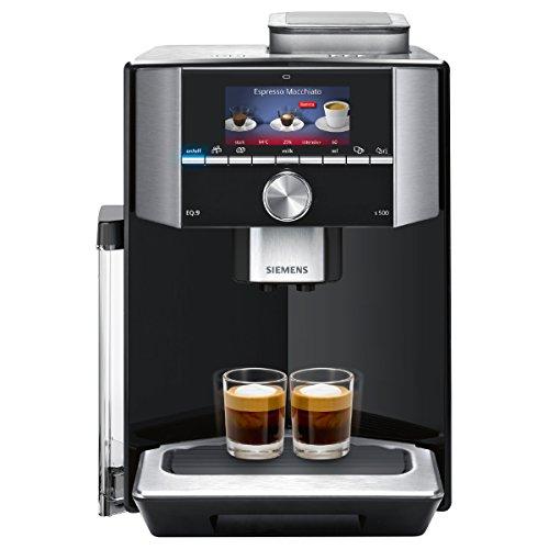 eq9 connect Siemens EQ.9 s500 TI915539DE Kaffeevollautomat (1500 Watt, Keramik-mahlwerk, 1 Bohnenbehälter, Großes TFT-Display, Baristamodus, integriertes Milchsystem) klavierlack schwarz