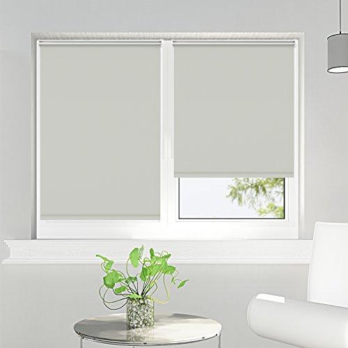 Persiana cortina enrollables opacos, estor-térmico en gris, diferentes colores y tamaños 80 x 170 cm
