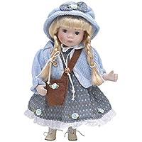 Muñeca de Porcelana de 30 cms con soporte. SOFIA - BAM009