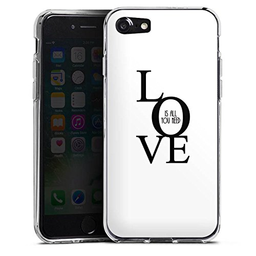 Apple iPhone X Silikon Hülle Case Schutzhülle Love Liebe Sprüche Silikon Case transparent