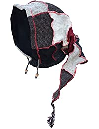Poco sombrero de campana con bufanda larga de tejer de forro polar Pixie–Braga de cuello de lana de Katmandú